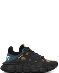 Versace Black Barocco Trigreca Sneakers
