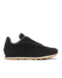 Maison Margiela Black Canvas Runner Sneakers