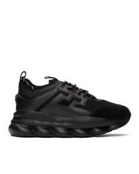 Versace Black Chain Reaction Sneakers