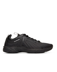 Acne Studios Black Faux Leather Trail Sneakers
