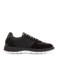 Etro Black Leather Sneakers