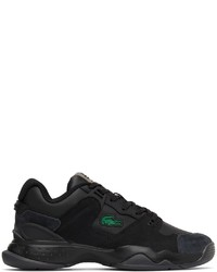 Lacoste Black Leather Suede T Point Sneakers