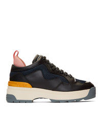 Fendi Black Leather T Rex Sneakers