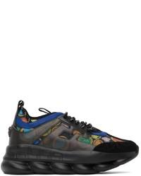 Versace Black Medusa Amplified Chain Reaction Sneakers