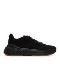 Bottega Veneta Black Mesh Speedster Sneakers