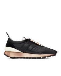 Lanvin Black Nylon Bumper Sneakers