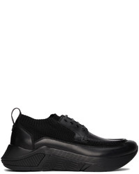 Giorgio Armani Black Paneled Chunky Sneakers