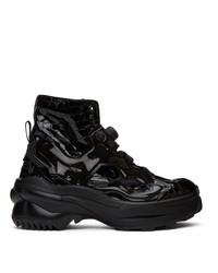 Maison Margiela Black Reebok Edition Tabi Instapump Fury Lo Sneakers