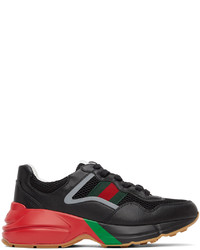 Gucci Black Rhyton Sneakers