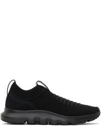 Z Zegna Black Sock 20 Slip On Sneakers