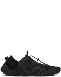 Kenzo Black Sport Wave Sneakers