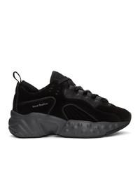 Acne Studios Black Suede Rockaway Sneakers