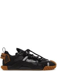Dolce & Gabbana Black Tan Ns1 Sneakers