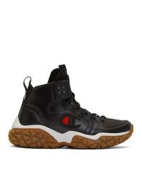 Champion Reverse Weave Black Tank Grid High Top Sneakers
