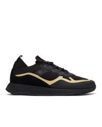 BOSS Black Thermo Bonded Titanium Running Sneakers