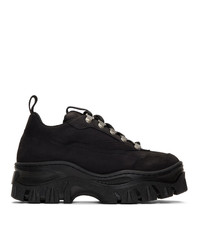 MSGM Black Tractor Trek Sneakers