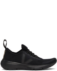 Rick Owens Black Veja Edition Runner Style 2 V Sneakers
