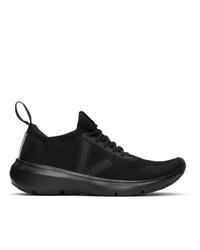 Rick Owens Black Veja Edition Sock Runner Sneakers
