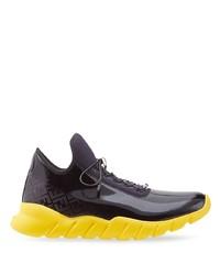 Fendi Ff Pattern Low Top Sneakers