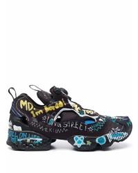 Vetements Graffiti Print Low Top Sneakers