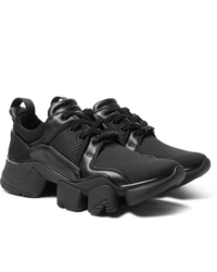 Givenchy Jaw Neoprene Suede Leather And Mesh Sneakers
