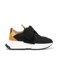 MM6 MAISON MARGIELA Med Stretch Knit And Canvas Sneakers