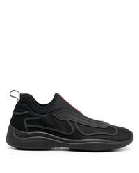 Prada Mesh Panel Slip On Sneakers