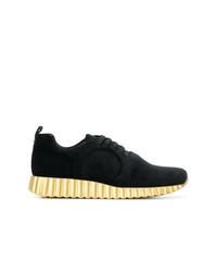 Salvatore Ferragamo Metallic Platform Sneakers
