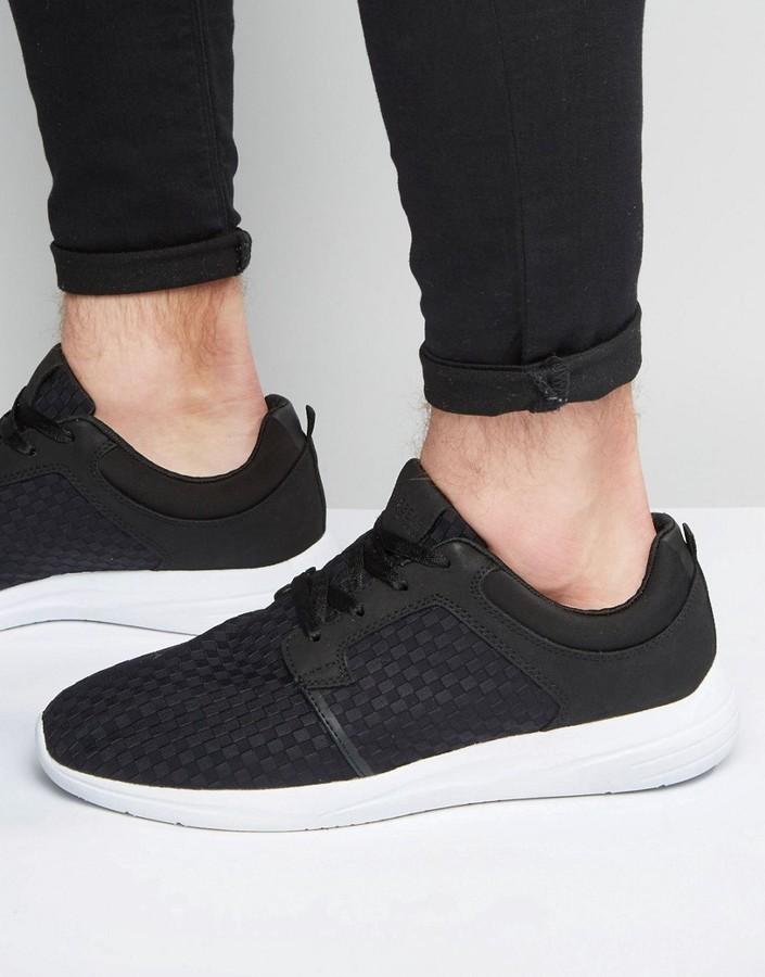 41b9d8dd0011 ... Pull Bear Sneakers In Black ...
