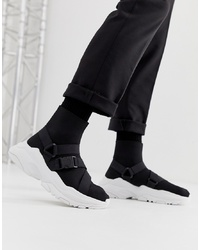 ASOS DESIGN Sock Trainers In Black With Chunky Sole And S
