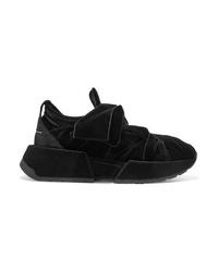 MM6 MAISON MARGIELA Suede Trimmed Velvet Sneakers