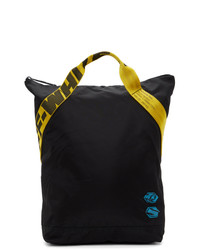 Off-White Black And Yellow Twill Backpack