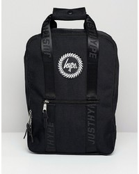 Hype Black Boxy Backpack