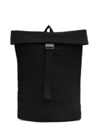 Homme Plissé Issey Miyake Black Flat Bag1 Backpack