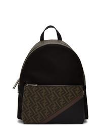 Fendi Black Forever Fabric Backpack