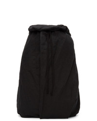 Julius Black Linen Weather Backpack