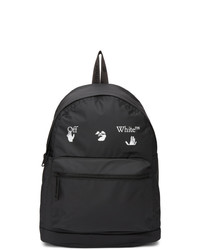 Off-White Black Matte Logo Backpack