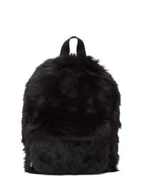 Vetements Black Shearling Backpack