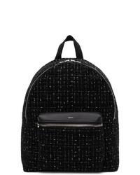 Amiri Black Tweed Classic Backpack