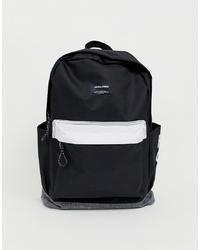 Jack & Jones Contrast Backpack In Monochrome With Branding
