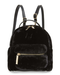 Mali + Lili Gemini Faux Fur Vegan Leather Convertible Backpack