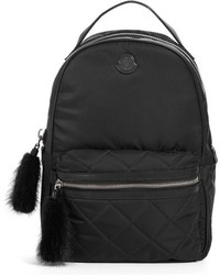Georgette genuine rabbit trim backpack black medium 765710