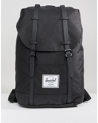 Herschel Supply Co. Herschel Supply Co Retreat Backpack In Black With Rubberised Straps