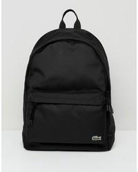 Lacoste Logo Backpack In Black