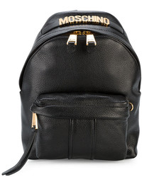 Moschino Logo Plaque Mini Backpack