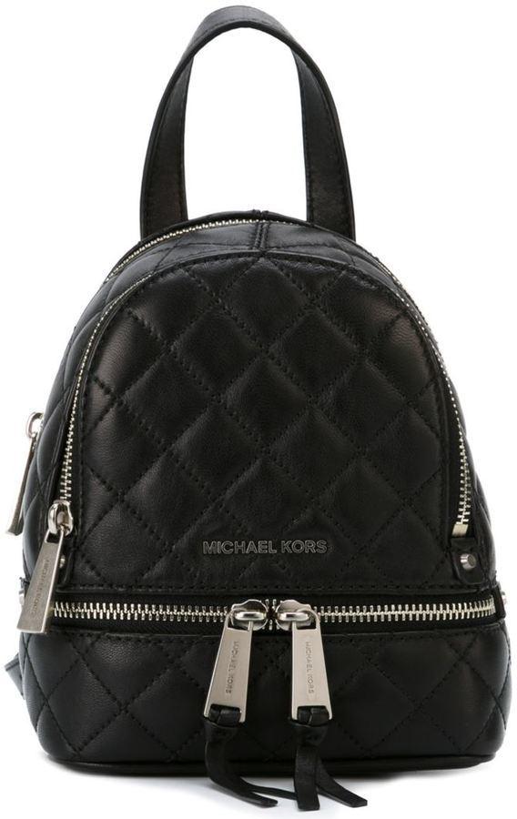 af026d32c0dd ... Black Backpacks MICHAEL Michael Kors Michl Michl Kors Extra Small Rhea  Backpack