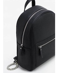 Mango Zip Pebbled Backpack