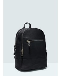 Mango Outlet Zipped Backpack