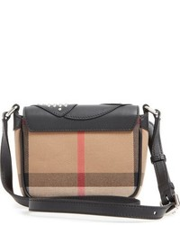 Burberry Coca Cotton Leather Crossbody Bag