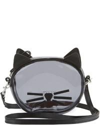 Karl Lagerfeld Girls Transparent Cat Crossbody Bag Black
